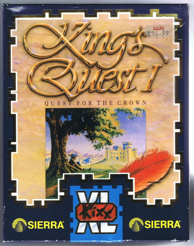 Roberta Williams' King's Quest I: Quest for the Crown Amiga Front Cover