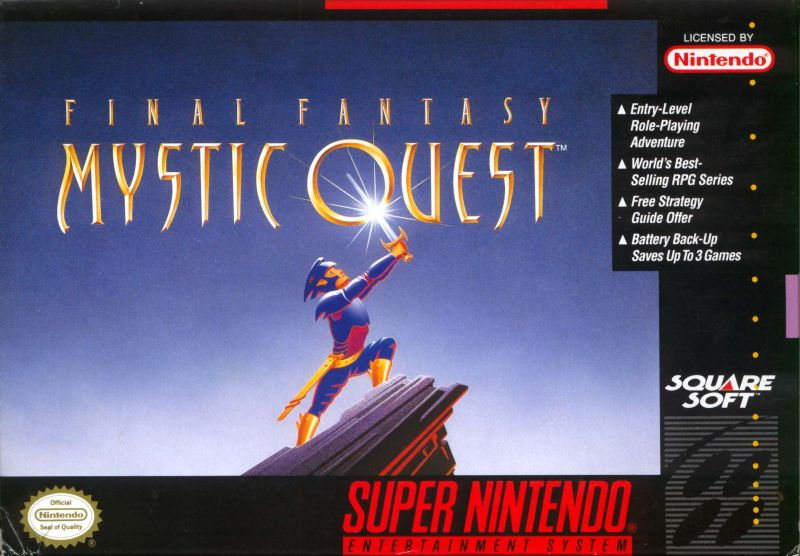 Final Fantasy: Mystic Quest SNES Front Cover