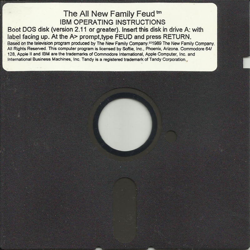 The All New Family Feud DOS Media Disk 1/1
