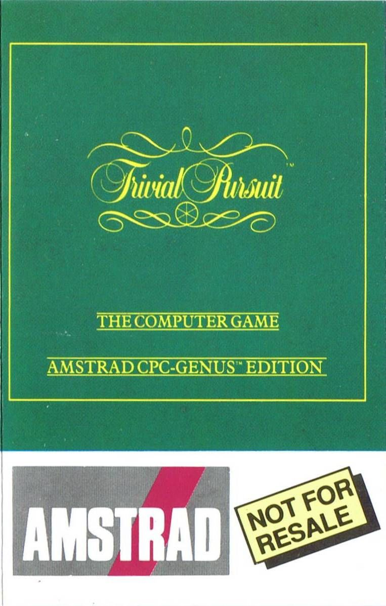 Trivial Pursuit Amstrad CPC Front Cover
