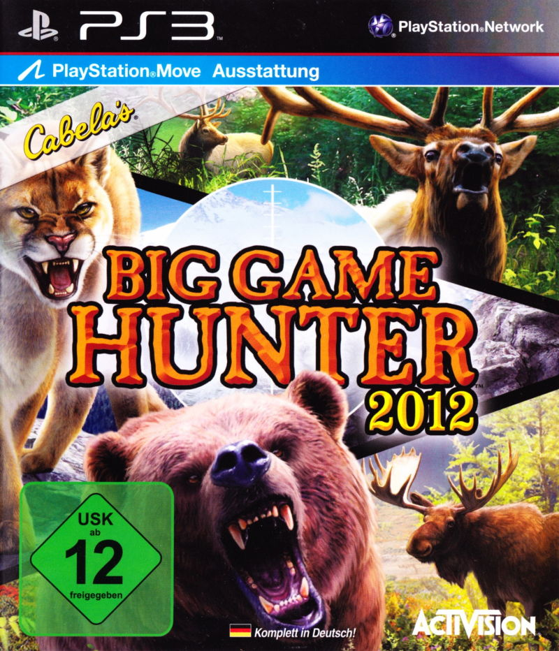 Cabela's Big Game Hunter 2012 PlayStation 3 Front Cover