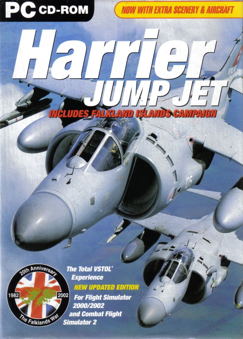 Harrier Jump Jet (2001) Windows box cover art - MobyGames
