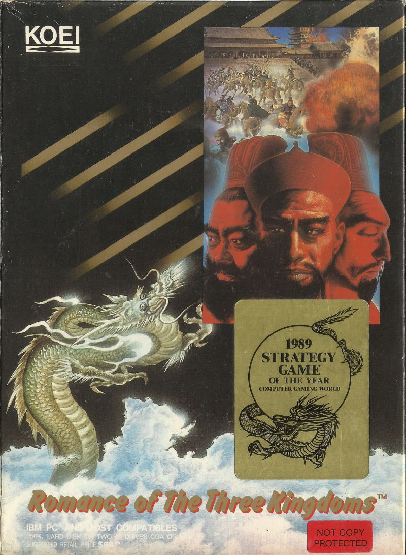 Romance of the Three Kingdoms DOS Front Cover