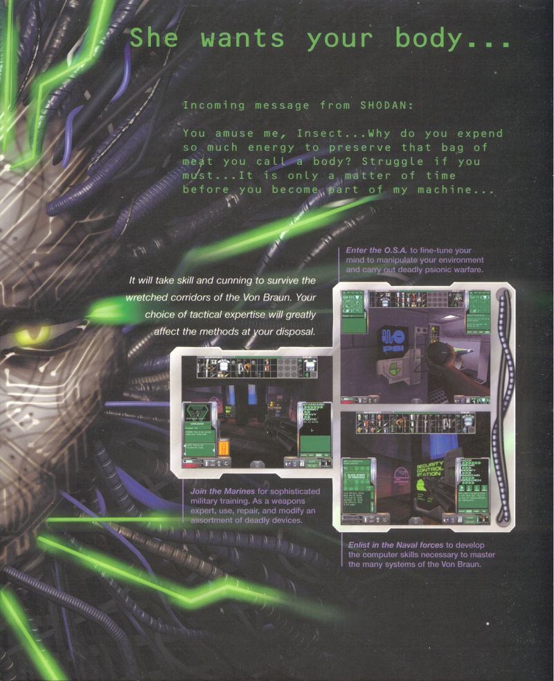 System Shock 2 Windows Inside Cover Left Flap