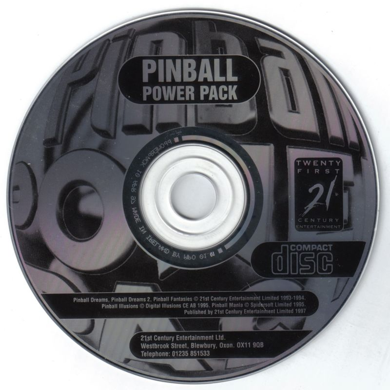 Pinball Gold Pack (1996) DOS box cover art - MobyGames