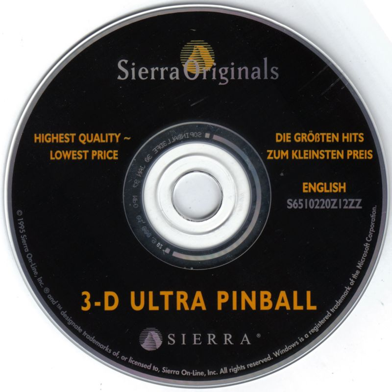 3-D Ultra Pinball Windows Media