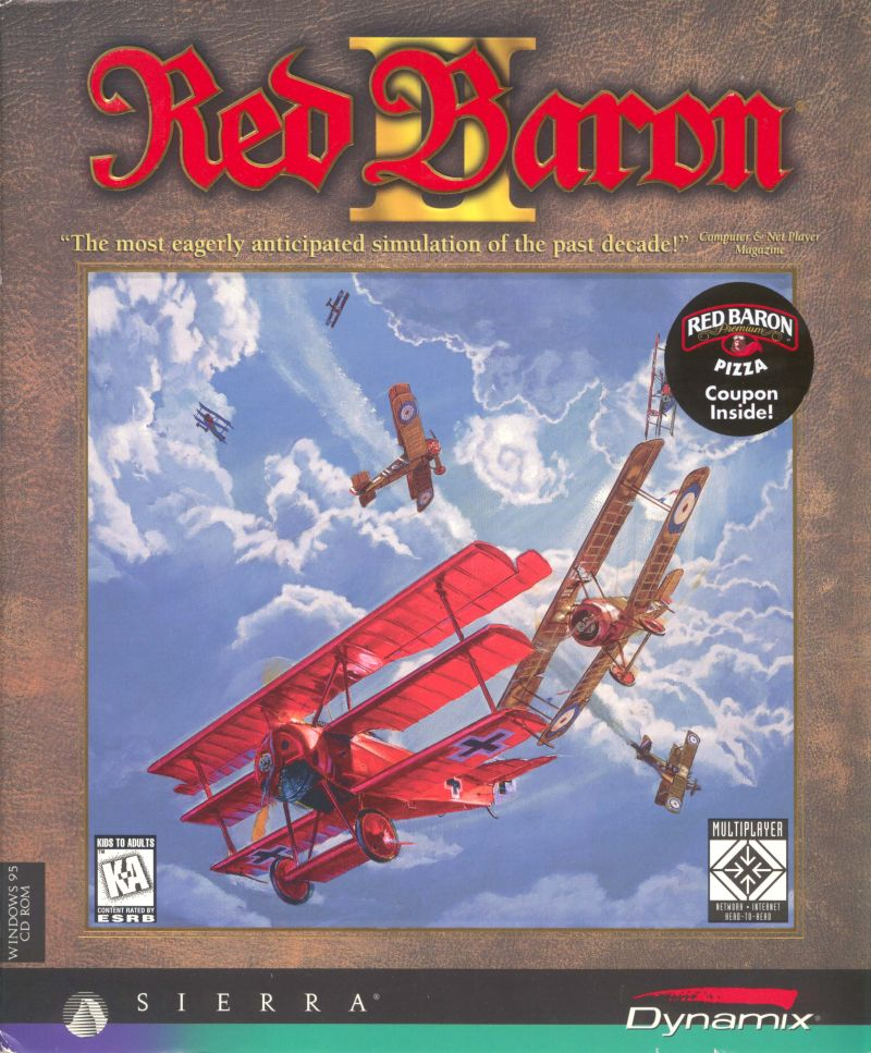 Red Baron II Windows Front Cover