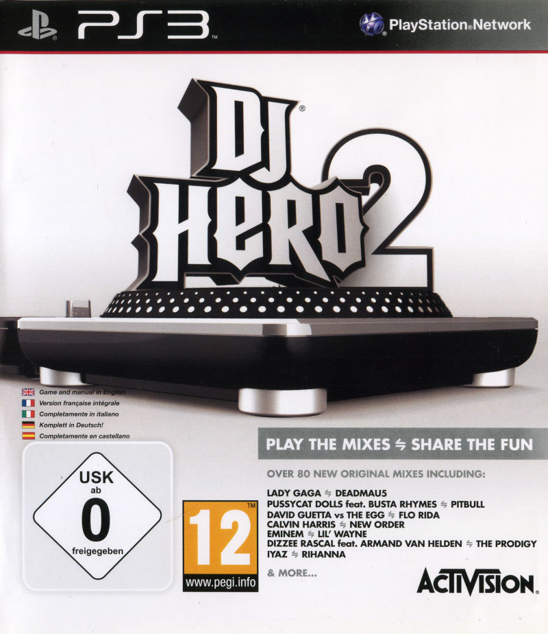 DJ Hero 2 PlayStation 3 Other Keep Case - Front