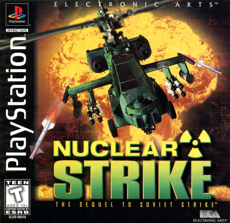 nuclear strike  1997  playstation box cover art