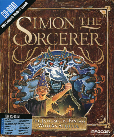 Simon the Sorcerer DOS Front Cover