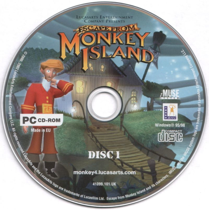 Escape from Monkey Island Windows Media Disc 1