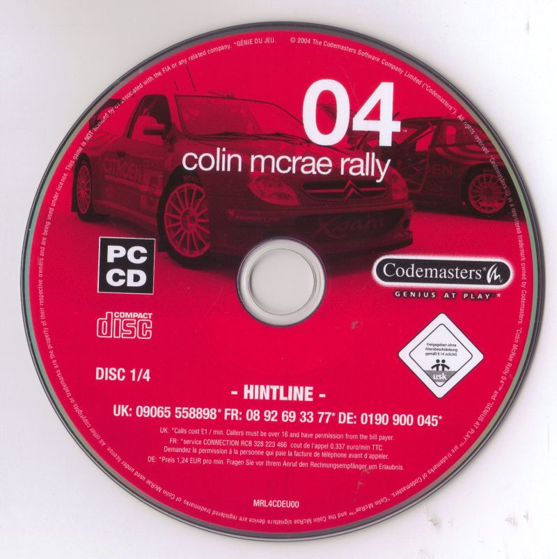 Colin McRae Rally 04 Windows Media Disc 1/4