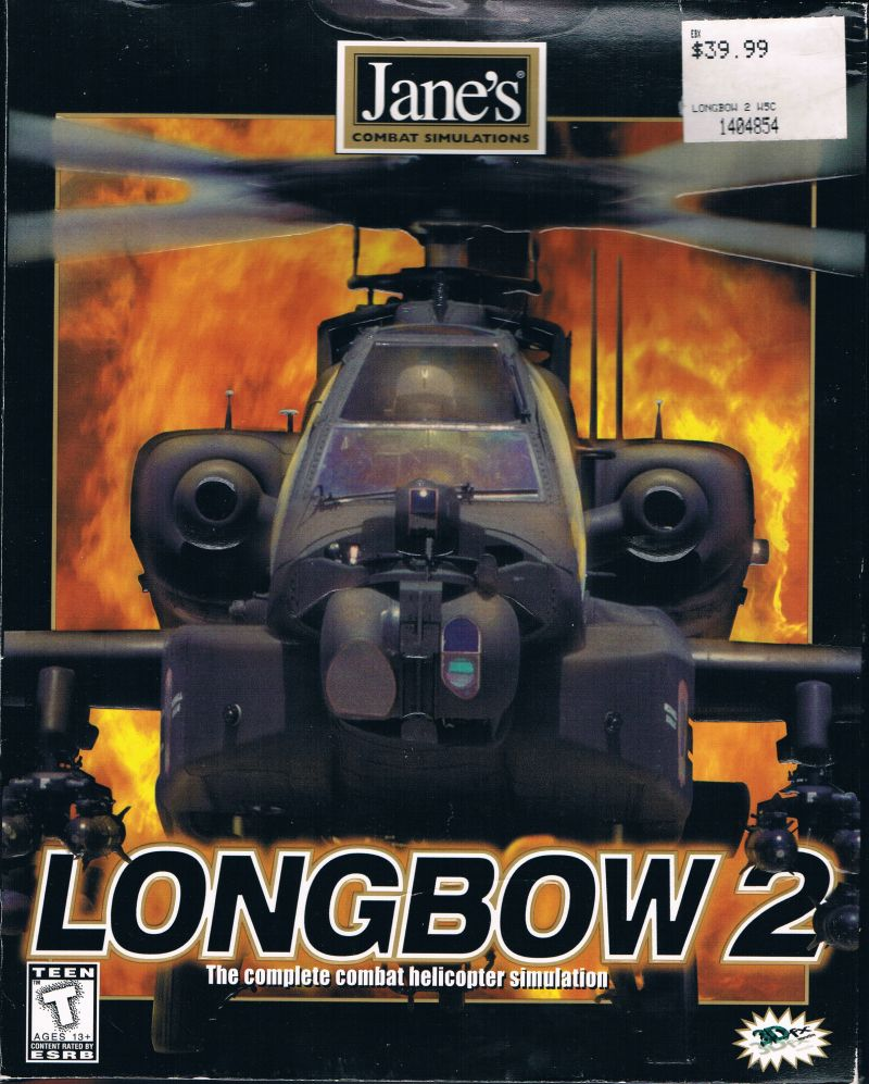 Jane's Combat Simulations: Longbow 2 Windows Front Cover Embossed helicopter contours