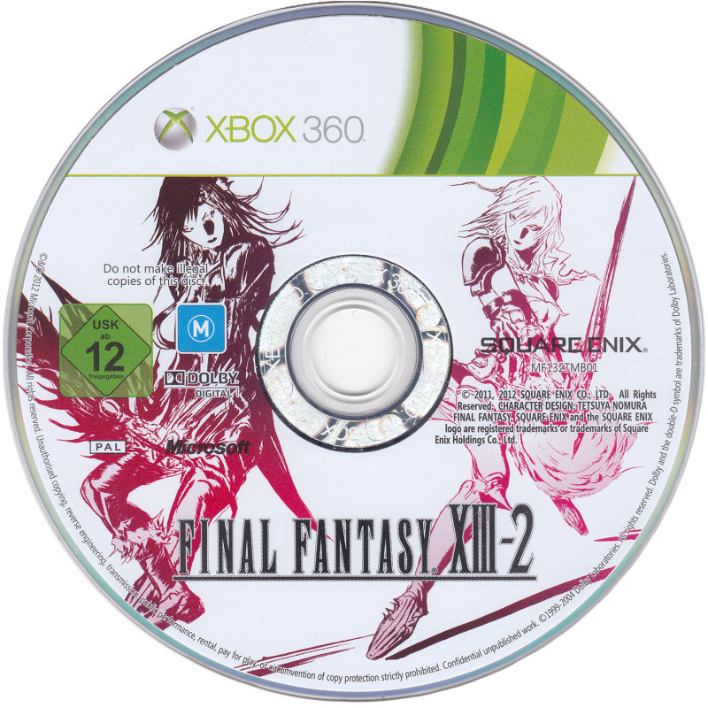 Final Fantasy XIII-2 (Limited Collector's Edition) Xbox 360 Media Game disc