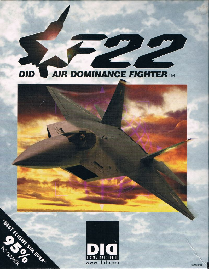 F22 Air Dominance Fighter Windows Front Cover
