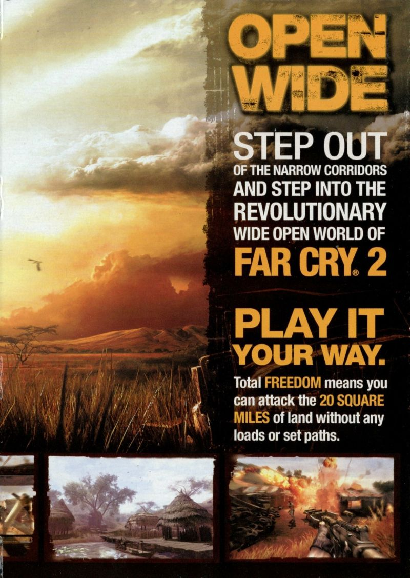 Far Cry 2 Windows Inside Cover Right