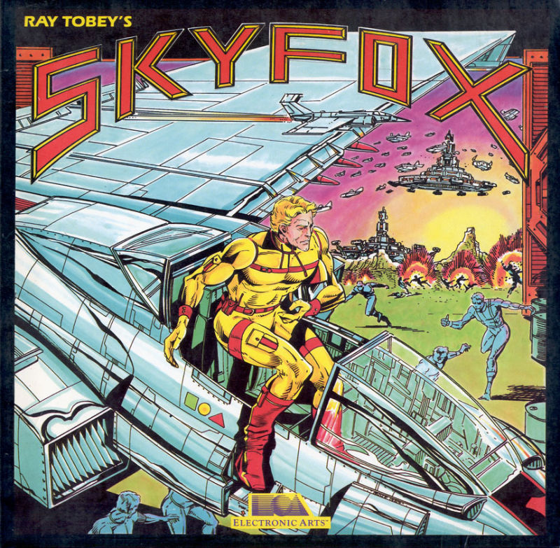 Skyfox Commodore 64 Front Cover