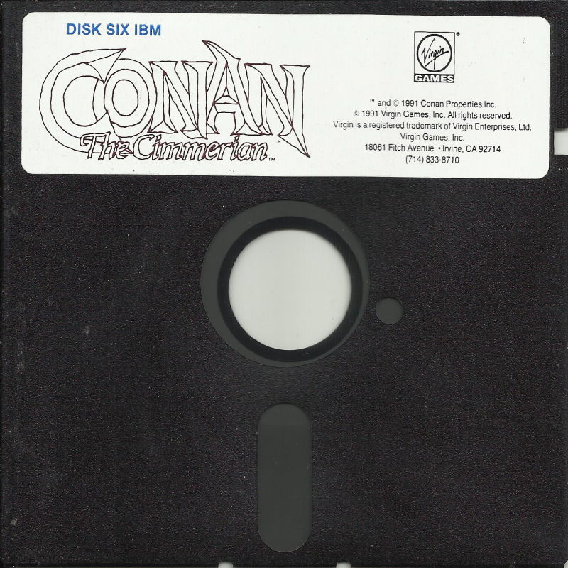 Conan: The Cimmerian DOS Media Disk 6/8 *EGA/Tandy Disk 1-6 (360KB)
