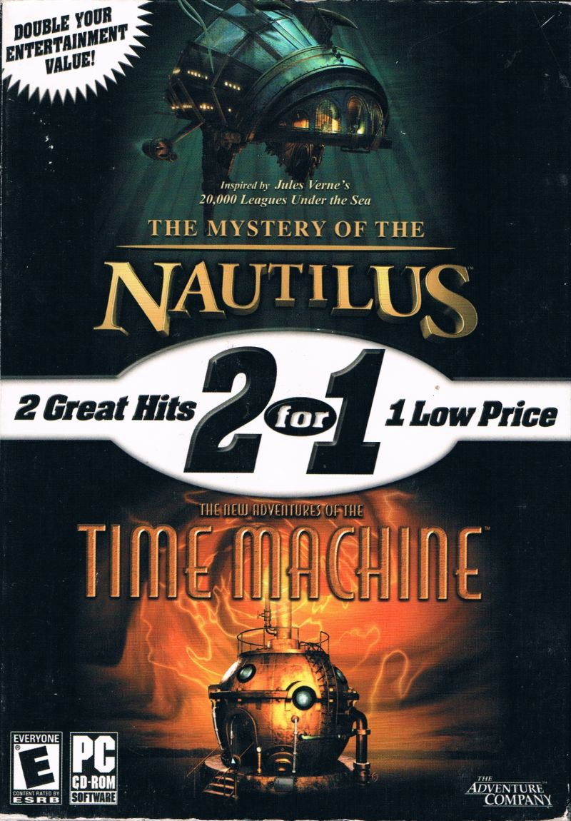 2 for 1: The Mystery of the Nautilus / The New Adventures of the Time Machine Windows Front Cover