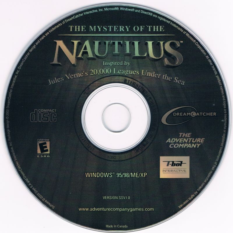 2 for 1: The Mystery of the Nautilus / The New Adventures of the Time Machine Windows Media The Mystery of the Nautilus disc 1/1