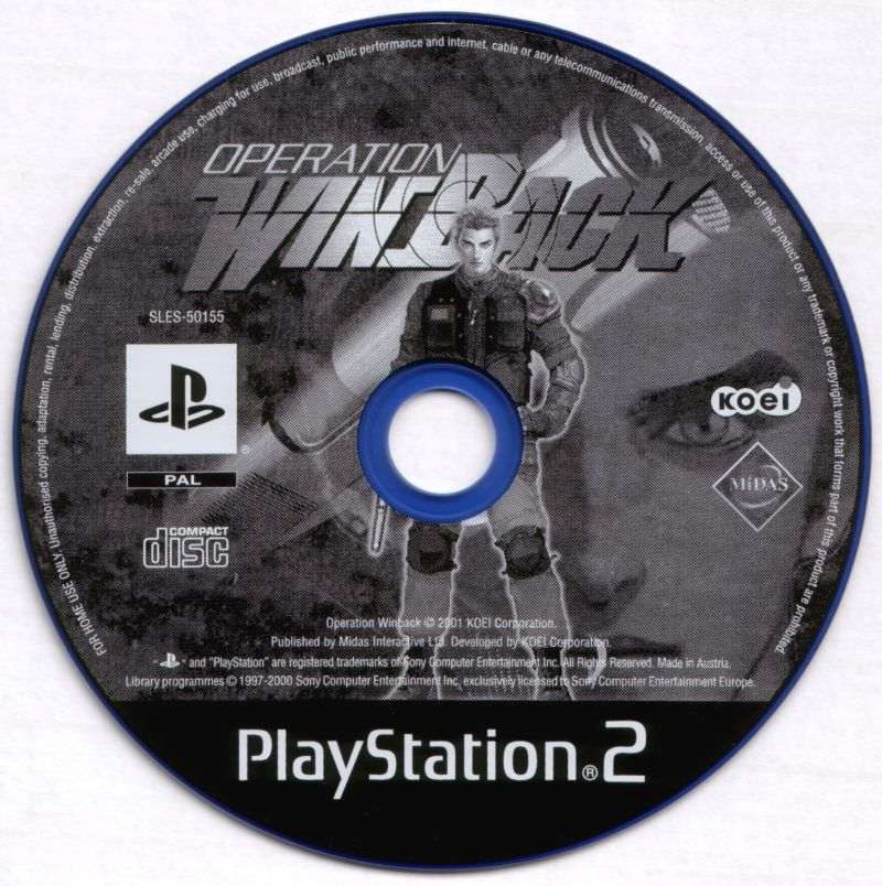 WinBack: Covert Operations PlayStation 2 Media
