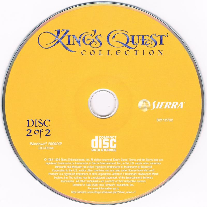 King's Quest Collection Windows Media Disc 2/2