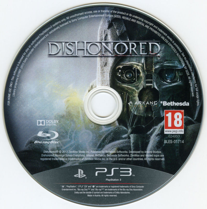 Dishonored PlayStation 3 Media