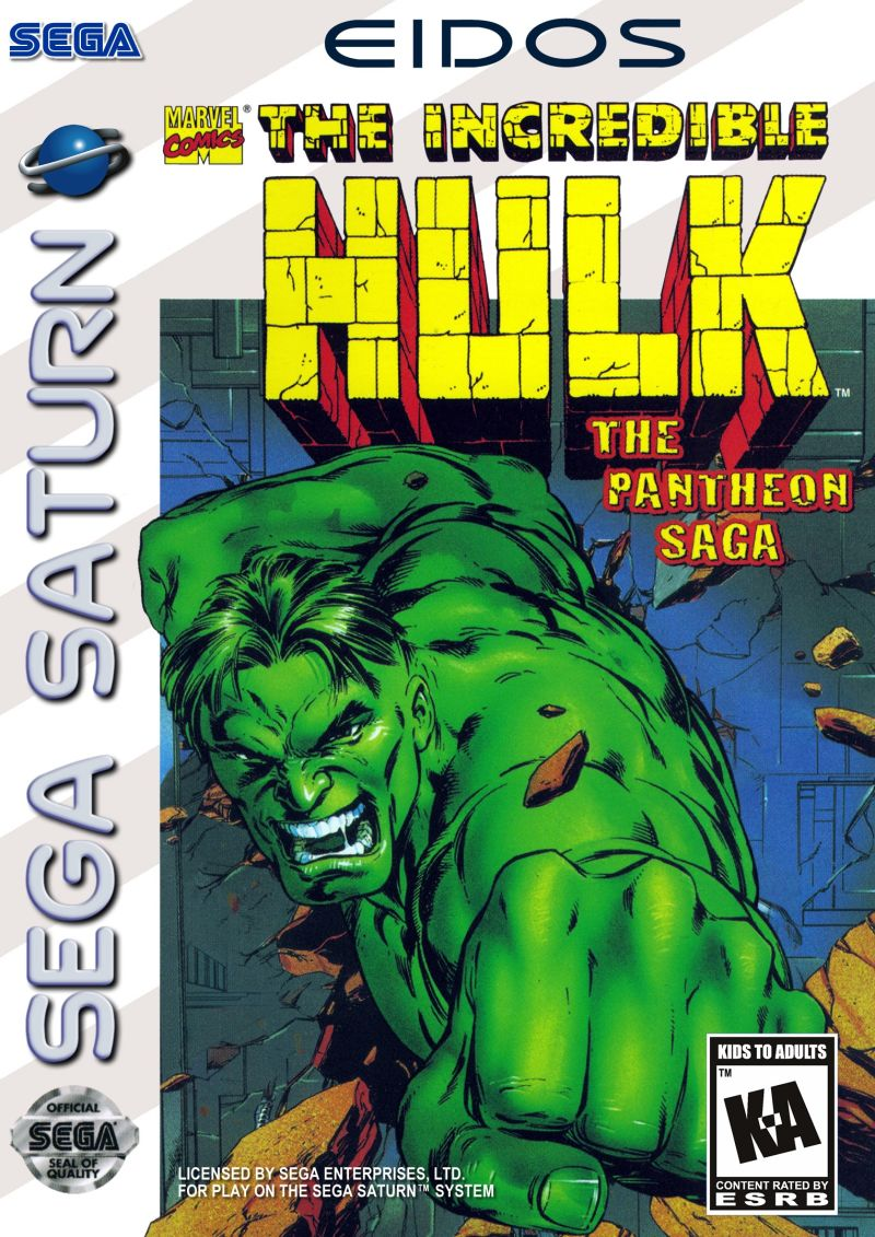 The Incredible Hulk: The Pantheon Saga SEGA Saturn Front Cover
