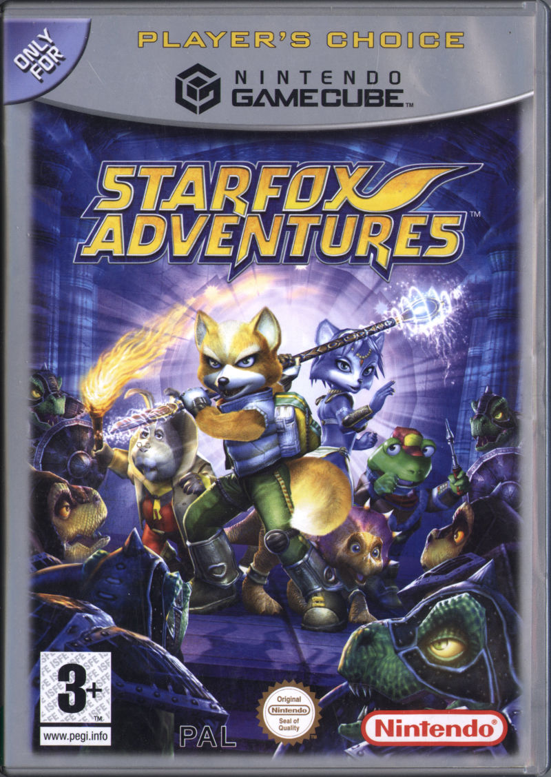 star fox adventures game box