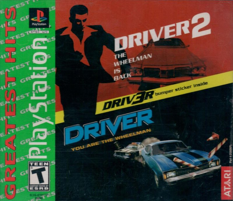 Driver / Driver 2 PlayStation Front Cover