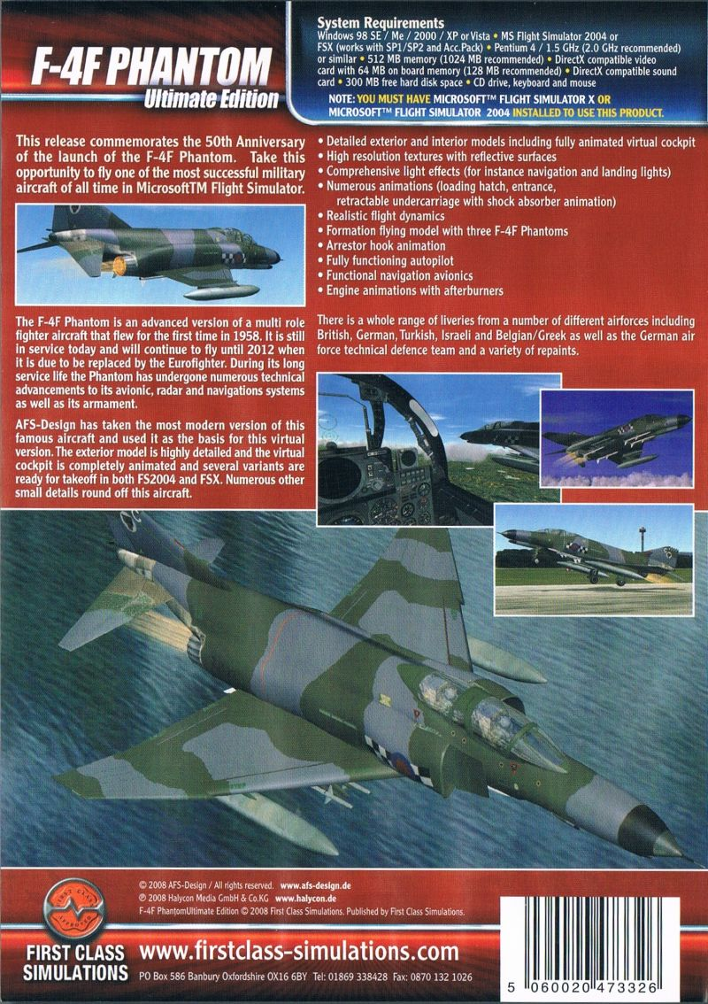 F-4F Phantom: Ultimate Edition Windows Back Cover