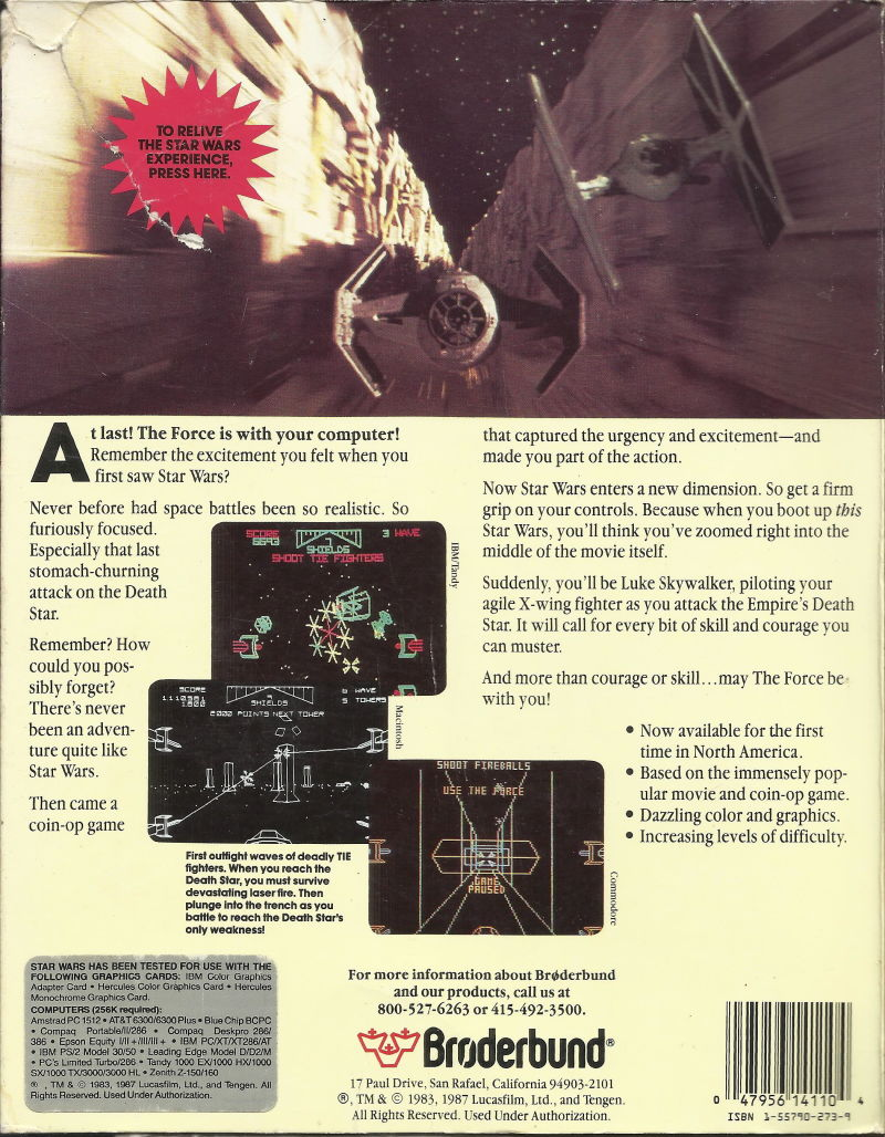 Star Wars DOS Back Cover