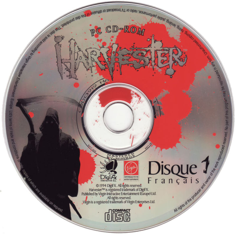 Harvester DOS Media Disc 1/3