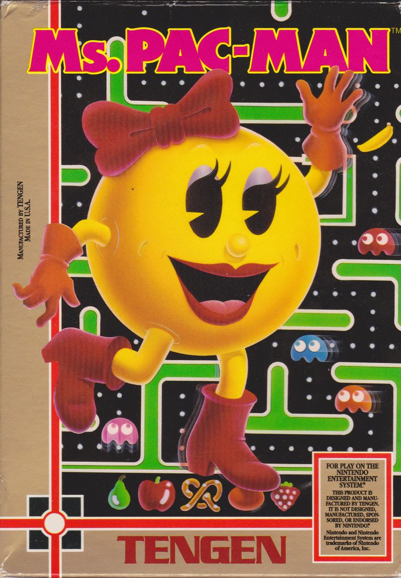 Ms. Pac-Man NES Front Cover