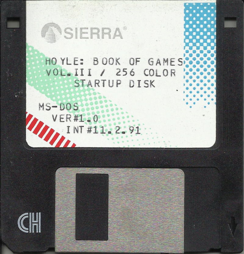 "Hoyle: Official Book of Games - Volume 3 DOS Media 3.5"" Startup Disk (256 color)"