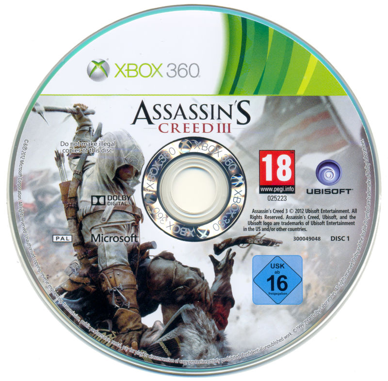assassins creed iii 2012 xbox 360 box cover art mobygames