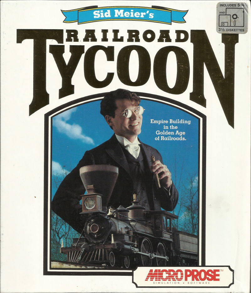 Sid Meier's Railroad Tycoon DOS Front Cover