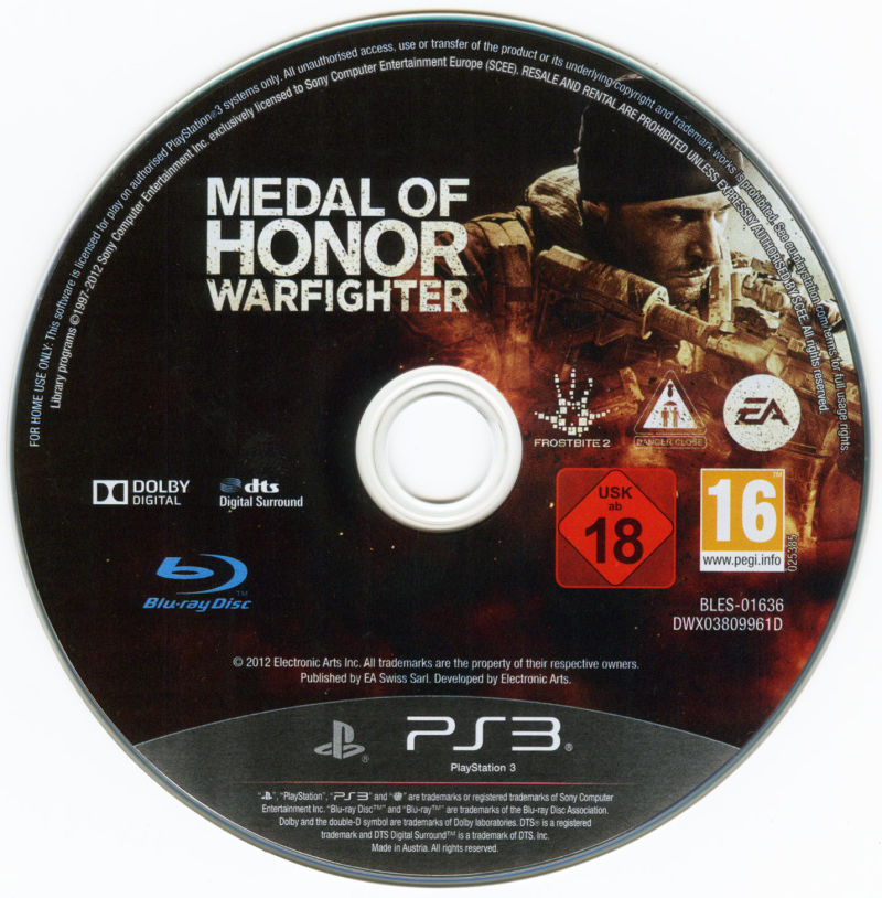 Medal of Honor: Warfighter (Limited Edition) PlayStation 3 Media