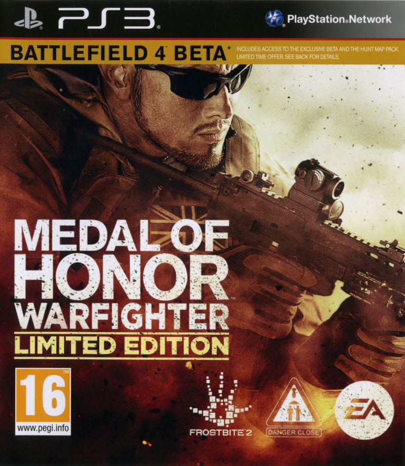 Medal of Honor: Warfighter (Limited Edition) PlayStation 3 Front Cover