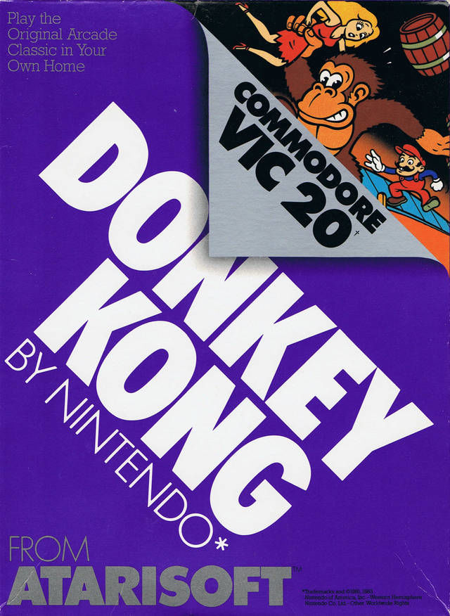 Donkey Kong VIC-20 Front Cover
