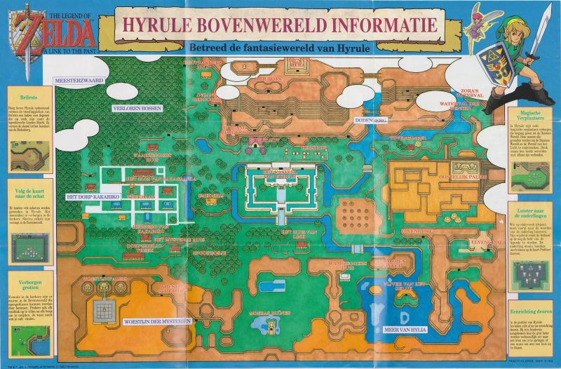 Link To The Past Light World Map.The Legend Of Zelda A Link To The Past 1991 Snes Box Cover Art