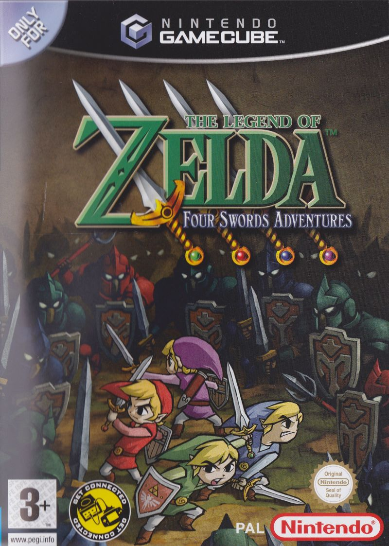 The Legend of Zelda: Four Swords Adventures GameCube Other Keep Case - Front