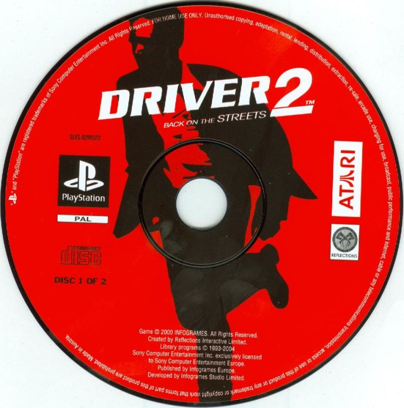 Driver / Driver 2 PlayStation Media <i>Driver 2</i> disc 1/2