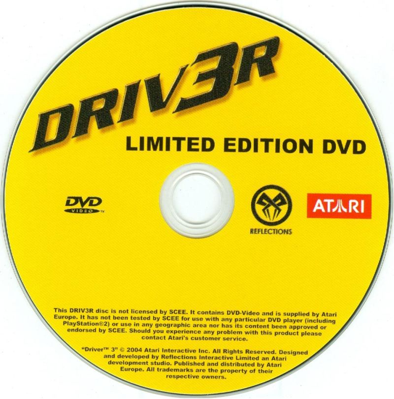 Driver / Driver 2 PlayStation Media <i>Driv3r</i> promotional limited edition DVD