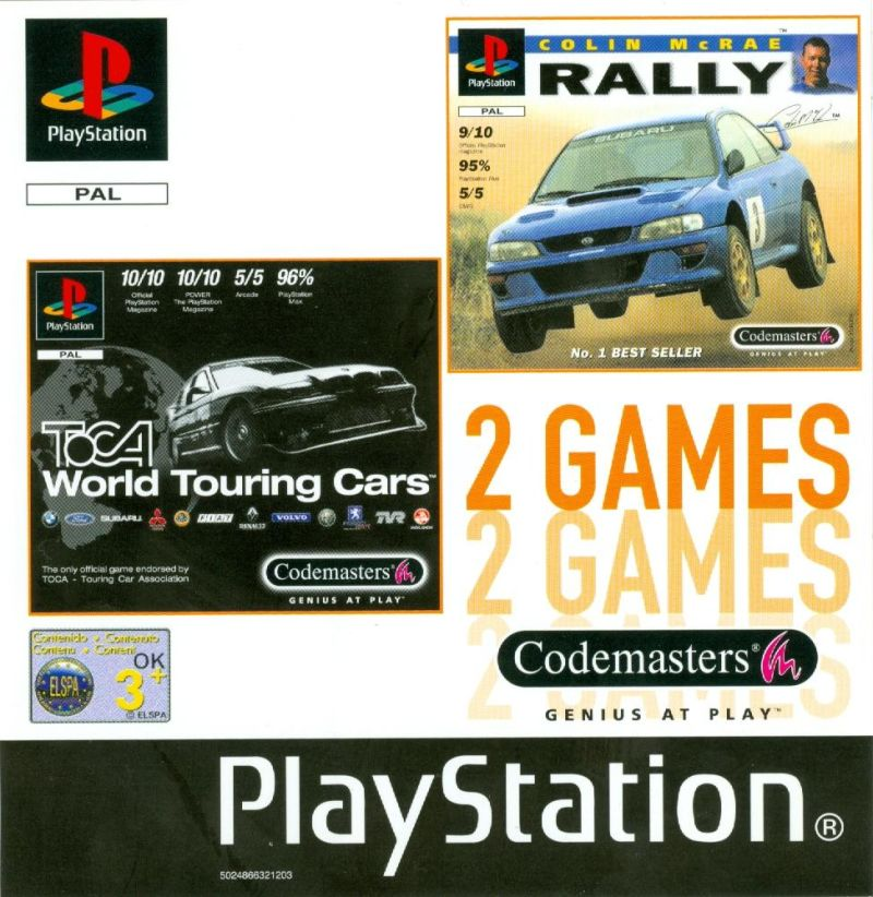2 Games: TOCA World Touring Cars / Colin McRae Rally For