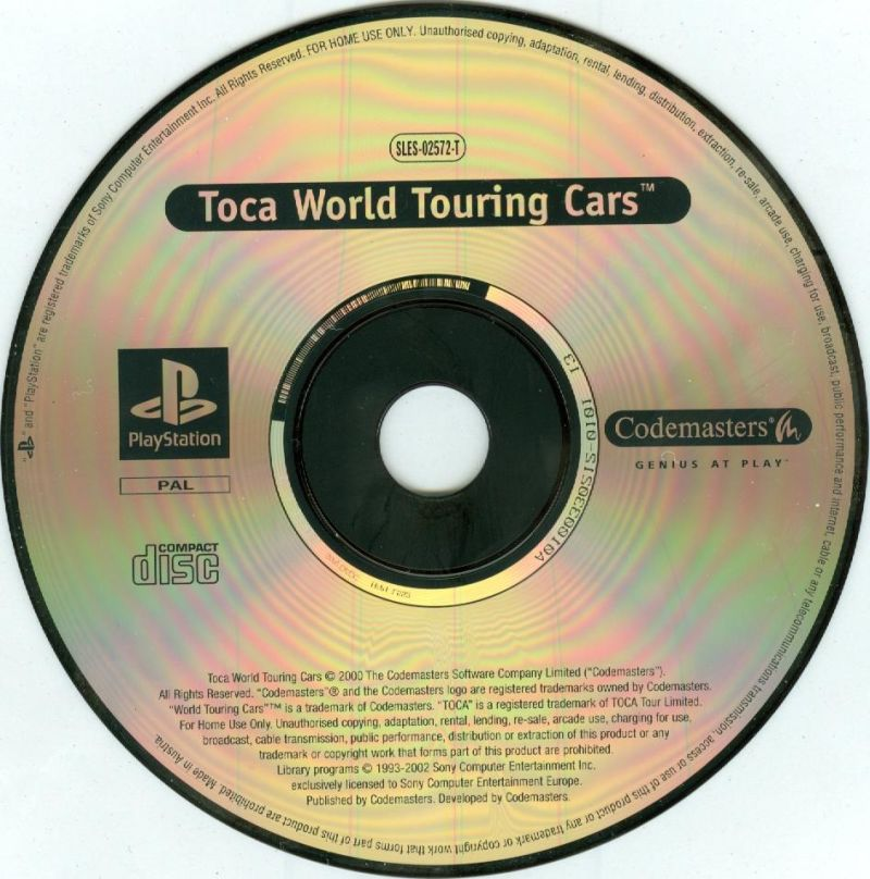 TOCA World Touring Cars / Colin McRae Rally PlayStation Media TOCA World Touring Cars