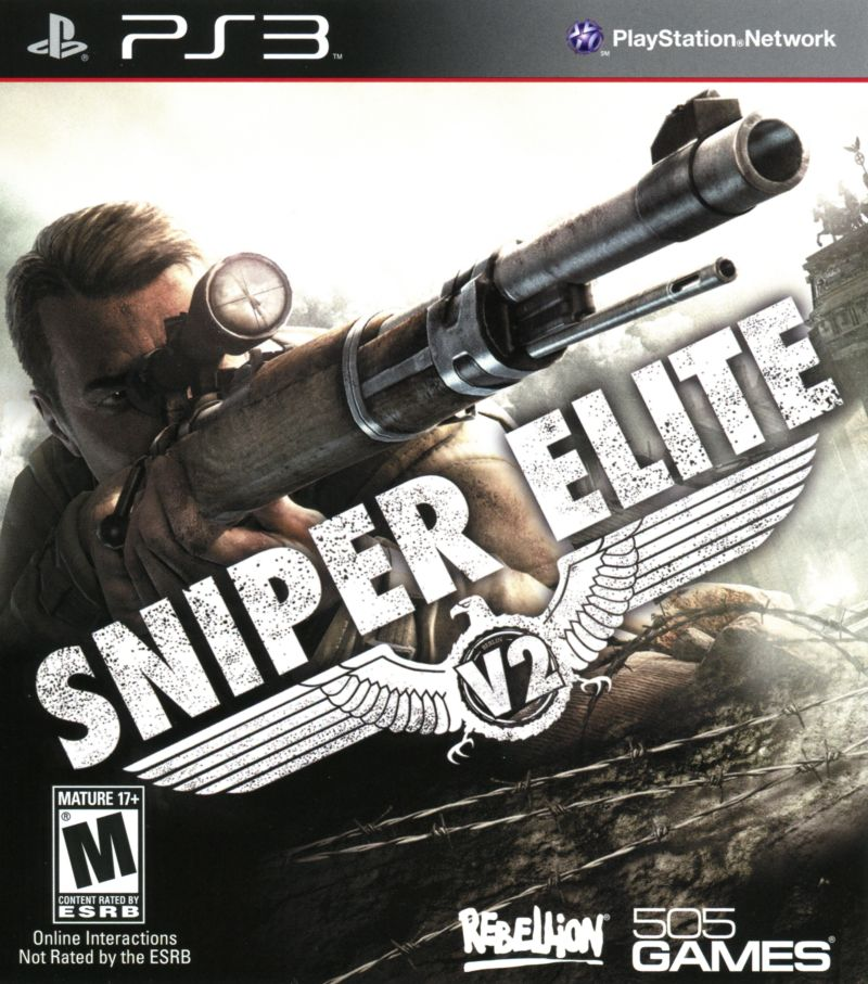 Sniper Elite V2 PlayStation 3 Front Cover