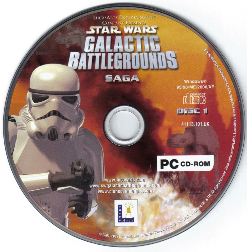 Star Wars: Galactic Battlegrounds - Saga Windows Media Disc 1/2