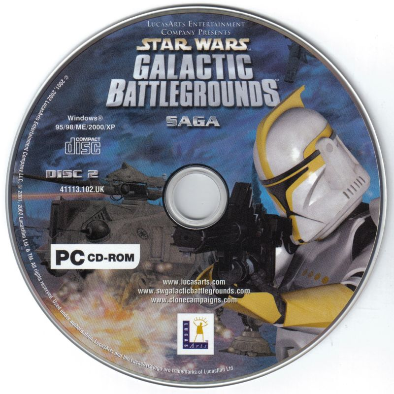 Star Wars: Galactic Battlegrounds - Saga Windows Media Disc 2/2