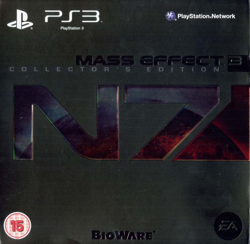 Mass Effect 3 (N7 Collector's Edition) PlayStation 3 Front Cover